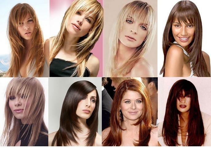 Разные прически для средних волос с челкой
